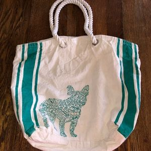 Handbags - French Bulldog Canvass Bag Tote